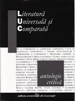 literatură universală şi comparată – antologie critică